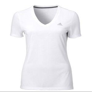 Adidas Women's Medium Climate Vneck Tshirt